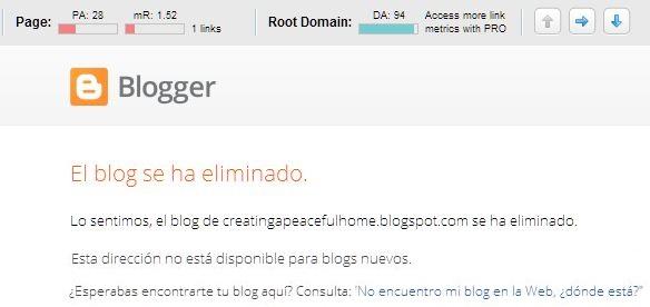 blogs eliminados no disponibles
