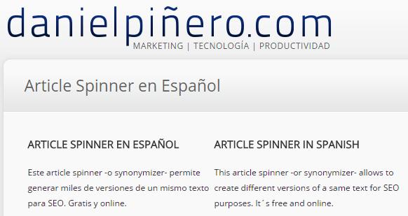 spinner español